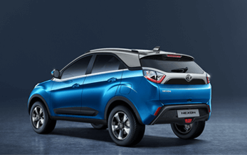 TATA Nexon Rear View on Blue White Color Variant